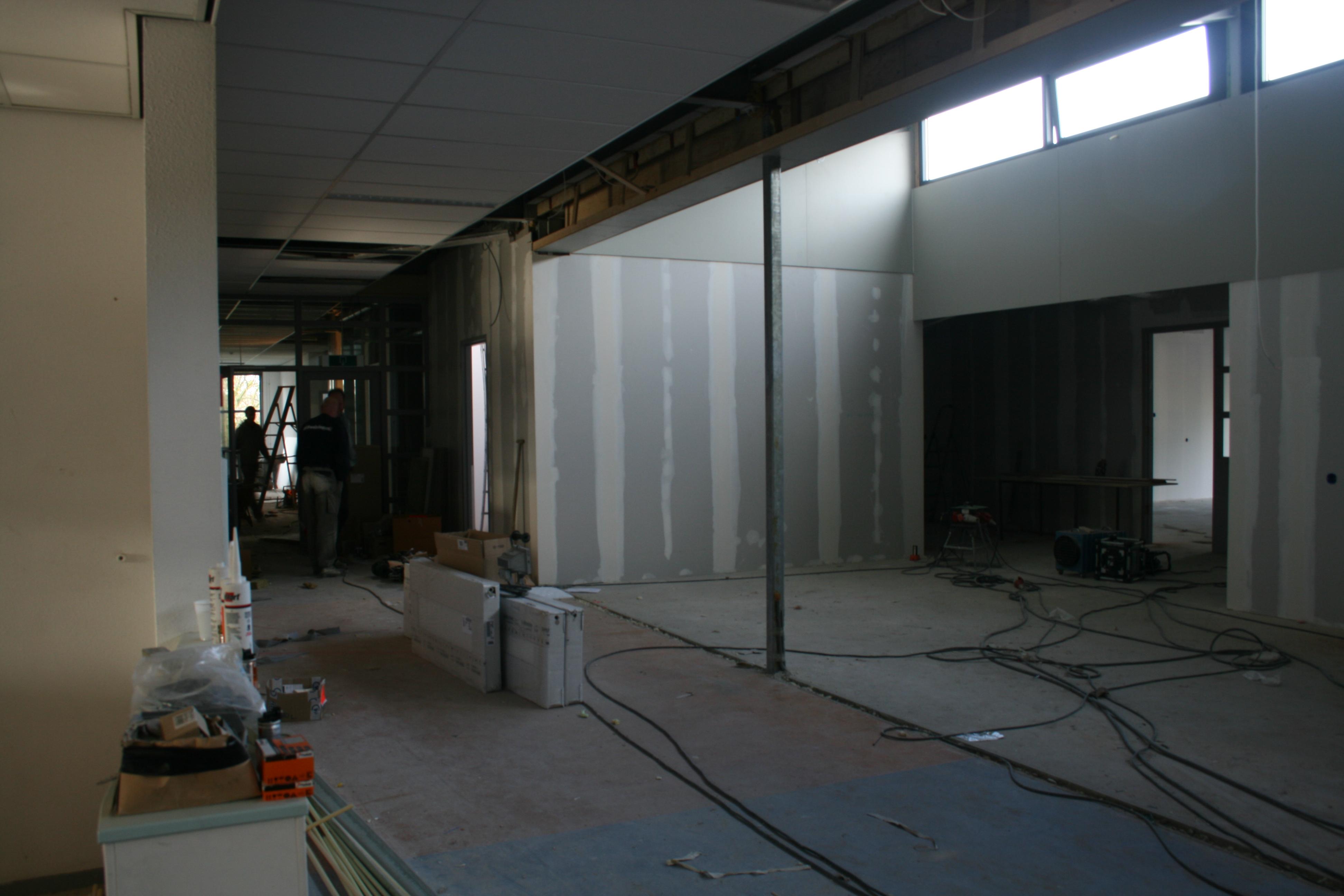 Tijdens de verbouwing